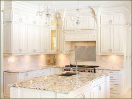 Off White Kitchen Cabinets White Kitchen Granite Off White Kitchen Cabinets  With Granite Countertops Crystal Lighting ...