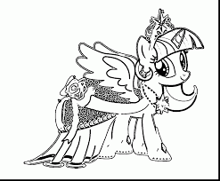 Excellent Princess Twilight Sparkle Coloring Pages With Twilight