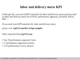 Labor And Delivery Nurse Kpi