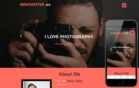 Innovative Cv A Personal Category Bootstrap Responsive Web