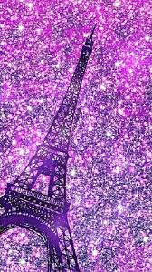 purple eiffel tower iphone android glitter wallpaper i created for the app cocoppa