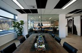 interior modern office. meeting table of fresh and modern office interior