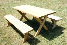 build a round picnic table build a picnic table with detached benches furniture free picnic table