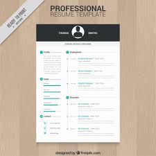 green resume template vector professional resume template