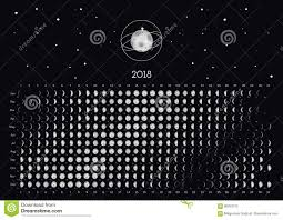 Moon Calendar 2018 Stock Vector Illustration Of Modern