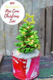 Christmas Tree Cone With Lights How To Make Pine Cone Christmas Tree With Lights Colorful