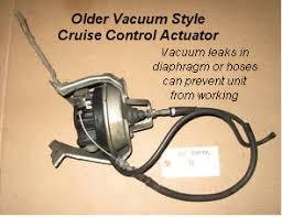 diagnose cruise control cruise control vacuum actuator