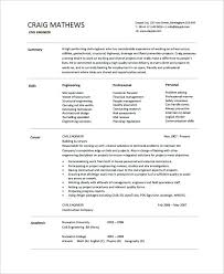 Cv Samples For Engineering Students Resume Template Engineer Basic Resume Template Pythonic Me