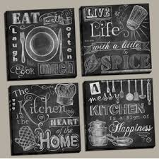 Kitchen framed art Country Kitchen beautiful Fun Chalkboard Kitchen Signs Messy Kitchen Heart Of The Home Spice Of Life And Cook Much Piece Framed Graphic Art Print Set set Of 4 Wayfair Food Beverage Framed Wall Art Youll Love Wayfair