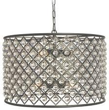 lightupmyhome cassiel crystal drum chandelier black reviews in crystal drum chandelier