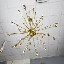 mid century modern italian midcentury style brass sputnik chandelier for