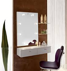 modern dressing table with mirror designs.  Mirror Wall Mounted Small Dressing Table With Mirror Lights In Modern Dressing Table With Mirror Designs T