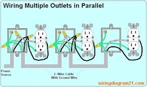 house electrical wiring diagram how to wire multiple outlet in parallel electrical wiring diagram