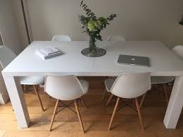 white gloss dining table  in fulham london  gumtree