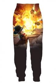 Character Pants Popular Trendy Cartoon Comic Character 3d Print Sport Loose Jogger