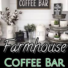 coffee bar. Farmhouse Kitchen Coffee Bar Ideas #farmhousestyle #kitchenideas