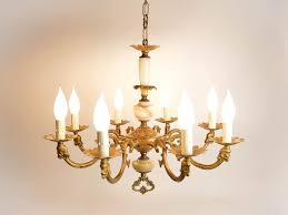 marvelous candlestick chandelier votive candle chandelier large vintage french bronze and onyx 8 arm