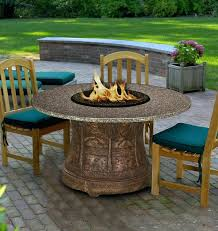fire pit dining table round fire pit dining table set