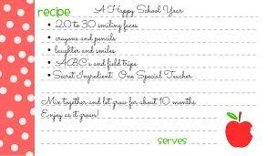 Recipe Cards An Easy Diy Teachers Gift Wine Glue