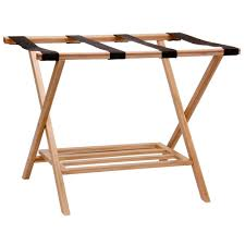 folding luggage rack. Beautiful Folding Household Essentials Bamboo Luggage Rack With Tray Intended Folding