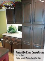 Staining Oak Cabinets Espresso Gel Stain On Kitchen Cabinets Blue Gray Stained Add Photo Gallery
