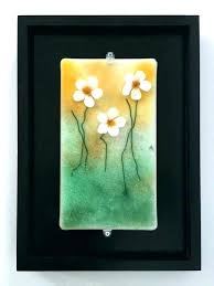 glass flower wall art fused handmade fl new blown fl