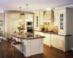Wooden Floor In Kitchen Extraordinary Creamy Oak Wood Floor In Kitchen White Wooden