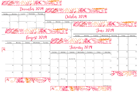 Printable Calendar 2019 Printable Calendar Cultured Palate
