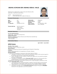 New Resume Format Resumes Of For Job Application To Download Data In