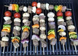 beef kabobs in the oven or grill with