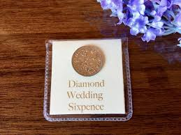 diamond wedding sixpence 60th wedding anniversary gift for with regard to 60th wedding anniversary gift ideas
