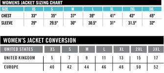 Womens Blazer Size Chart Icon Womens Jacket Size Chart