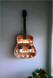 old guitar you can reuse as a book shelves