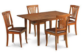 Pc Kitchen Table Set Size X And Faux Leather Seat Chairs Dining Room