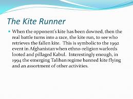 "khaled hosseini the kite runner ""i became what i am today at the  the kite runner when the opponent s kite has been downed then the real battle turns"