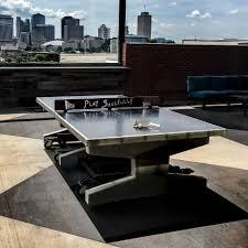concrete table tennis rooftop play area nashville