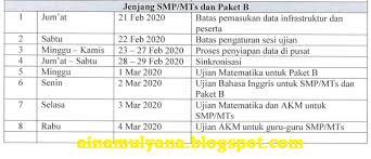 Selamat mengerjakan latihan soal dan pembahasan un matematika smk 2020 1. Jadwal Gladi Resik Unbk Smp Mts Sma Ma Smk Mak Tahun 2020 Idn Paperplane