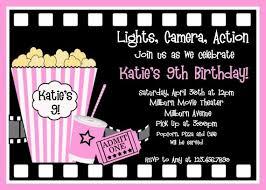 Movie Night Invitation Templates Movie Night Birthday Party Invitation Template Outdoor Movie Night