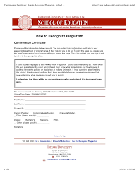 how to recognize plagiarism school of education na university  confirmation certificate how to recognize plagiarism