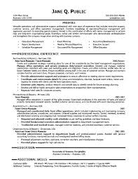 Executive Assistant Resume Template Professional Administrative