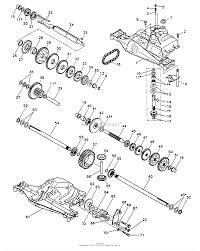 Poulan pp1242 tractor parts diagram for transaxle dana model