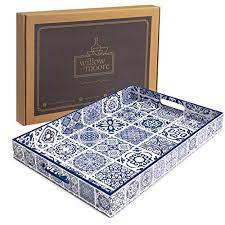 large decorative serving tray for