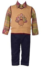 Bonnie Jean 3 Piece Sweater Vest with Thanksgiving ... - Amazon.com