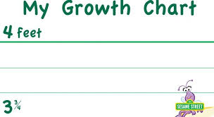 My Growth Chart Printable Sesame Street Pbs Learningmedia