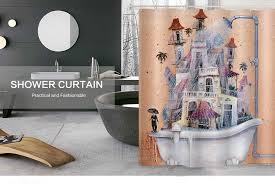 mildew resistant anti bacterial shower curtain 180 x 180cm non toxic eco friendly