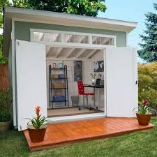 Garden shed office Portable Home Office Costco Aston 10 75 Wood Shed Home Office Costco Aston 10 75 Wood Shed Home Office Shed