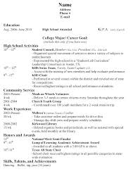High School Resume For College Template New First Job Resumes Resume Templates For Students With No Work