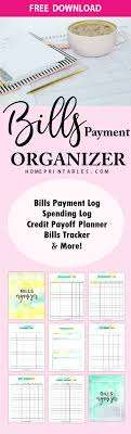 Download Your Free Bill Payment Organizer Home Printables