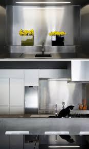 Kitchen Stainless Steel Backsplash Kitchen Design Idea Install A Stainless Steel Backsplash For A