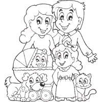 Small Picture Family Coloring Pages Surfnetkids